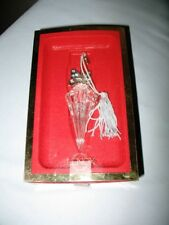 Lenox Vintage Parasol Lead Crystal & Blue Pave Jewels Christmas Ornament W/Box!