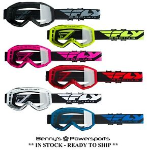 2021 Fly Racing Focus Goggles Adult & Youth Sizes Offroad MX MotoCross ATV BMX