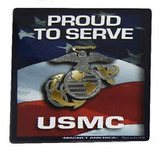 U.S. Usmc Marines Ega Proud to Serve Military Mini Magnet (Car / Fridge / Other)