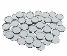 Small Round Glass Mirror Circles for Art and Crafts Projects Décor COMMR02-A