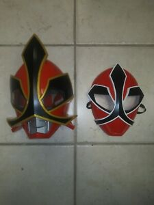 2012 Bandai Ranger Power Rangers Samurai Shogun Deluxe Talking Mask Cosplay Lot