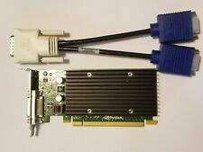 NVIDIA QUADRO NVS 300 512MB PCI-E Low Full Pro Video Card & Dual VGA DVI Monitor