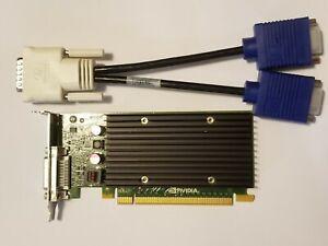 NVIDIA QUADRO NVS 300 512MB PCI-E Low Full Pro Video Card & Dual VGA DVI Monitor