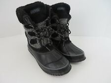 Khombu Maya Womens Winter Boot Steel Shank Black Gray Size 6M  #676