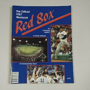 1987 Official Boston Red Sox Yearbook Boggs, Clemens, Evans, Baylor, Rice