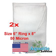 "2x Filter Bag 6"" x 8"" 50 Micron Felt Polypropylene Made in USA"