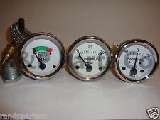 Amp Temp Oil Pressure Gauge Set for Minneapolis Moline G R U Z 335 400 445 500