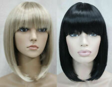 Fashion BOB Short Straight Bangs Women Female Lady Hair Full Wig+Wig Cap