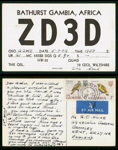 Mayfairstamps Gambia 1969 Bathurst to Kent England ZD3D Postcard wwr_10153