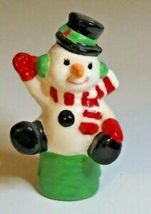 Pie Bird Waving Cute Snowman  Piebird USA Made
