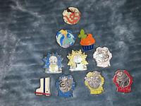 Lot Of 10 Disney HIDDEN MICKEY Pins                       db
