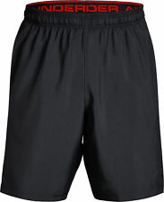 Under Armour Woven Graphic Mens Small Training Shorts BLACK/RED NWT
