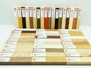 48 Penblanks 130x21x21mm Drechselholz-Schmuckholz-Basteln aus 35 Holzarten