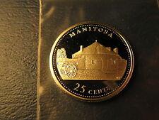 Canada 1992 Manitoba Joins Confederation Commemorative Gem 25 Cent Silver Coin.