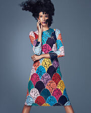 NEW DOLCE & GABBANA Lace Patchwork Multicolor Rainbow Floral Dress Gown 40