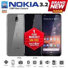 "New Unlocked Nokia 3.2 6.26"" Ips 13Mp Cam 3Gb+32Gb Dual Sim Android Smartphone"