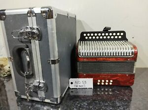 HOHNER ERICA MELODEON ACCORDION FOR SPARE NO BASS W CASE FREE WORLDWIDE SHIPPING