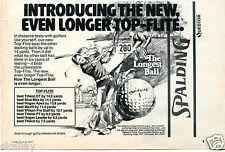 1977 Print Ad of Spalding Top-Flite Golf Ball