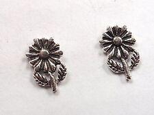 Daisy Flower Stud Earrings 925 Sterling Silver Corona Sun Jewelry garden