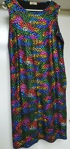 🌈Boho Hippy Psy Dress 16/18 Festival Clubwear Pride Rainbow Metallic 🌈🏳️🌈