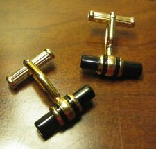 MONTBLANC Yellow Gold-plate & Onyx Cufflinks
