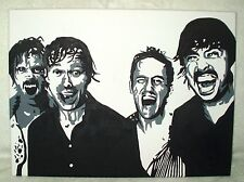 Canvas Painting Foo Fighters Band Black & White Art 16x12 inch Acrylic