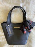 NWT Steve Madden Black Breese Crossbody Shoulder Bag and Makeup Bag DO327225