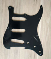 Pickguard Noir 1ply 11trous pour Stratocaster after 72's pots USA