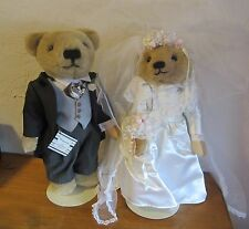 Franklin Mint Bride & Groom Edwina and Winston Plush Teddy Bears 2