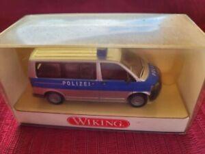 """VW T5 GP Multivan """"Polizei"""", Volkswagen, blau, WIKING #1042330, OVP - 1:87"""