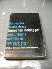 BEYOND THE MELTING  POT  THE NEGROES PUERTO RICANS  JEWS ITALIANS IRISH OF NYC