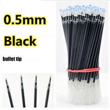 0.5mm Black Color Ink Pen Refills 100 Pieces Office School Pens Supplies Refill