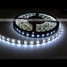 Waterproof Cool White 5M 300Leds 5050 SMD LED Flexible Strip Light 12V Black PCB