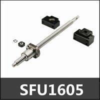 SFU1605 Kugelumlaufspindel 250mm-1550mm mit Spindelmutter+BK/BF12 Festlager