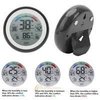 Digital LCD Magnetic Touch Screen Temp Humidity Monitor Thermometer Hygrometer