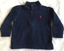 Ralph Lauren Polo Pullover Sweater Boys Size 2 Blue 1/4 Zipper