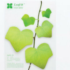 Green Leaves Sticky Note Simulation Leaf Post-it Not Sticker Bookmark Stikynot