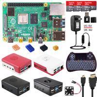 Raspberry Pi 4 Model B 4B 2/4/8GB RAM DIY Kit with ABS Case + 5V 3A Power + HDMI