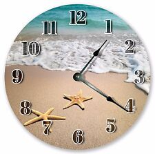 "10.5"" SEASHORE STARFISH CLOCK - Large 10.5"" Wall Clock - Home Décor Clock - 3037"