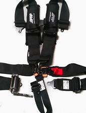 """PRP 5 Point Harness 3"""" Pads Ratcheting Harness BLACK RZR Maverick YXZ Talon All"""