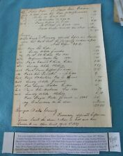 1827 GEORGIA WILKES COUNTY SLAVE DOCUMENT FOR MEDICIAL BILL FOR A NEGRO