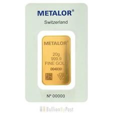 Metalor 20 Gram Gold Bar