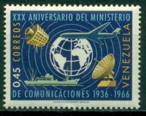 Venezuela Scott #912 MNH Globe Satellites Ship Airplane $$