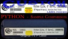 *New* Colt Case/Box End Label *Custom Printed* ☆High Quailty Replacement☆
