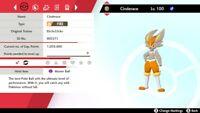 Pokemon Sword & Shield Starter Pokemon Ultra Shinny Cinderace 6IV Any Nature