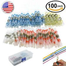 Waterproof 100X Solder Sleeve Heat Shrink Tube Wire Terminal Connector 4 Size US