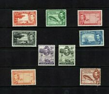 Cayman Islands: 1938, KG VI definitive, first perforation, short set, Mint