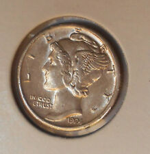 1924-s . . Mercury Dime . .  AU . Original
