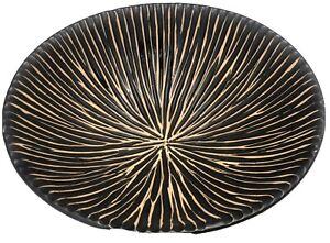 Round Circular Brown And Cream Grooved Modern Ceramic Matt Glazed Bowl Dish