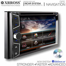 XRROSS Car DVD audio video radio player GPS Navigation Double Din Touch Screen